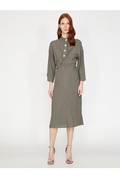 Koton Kadın Yüksek Yaka Elbise