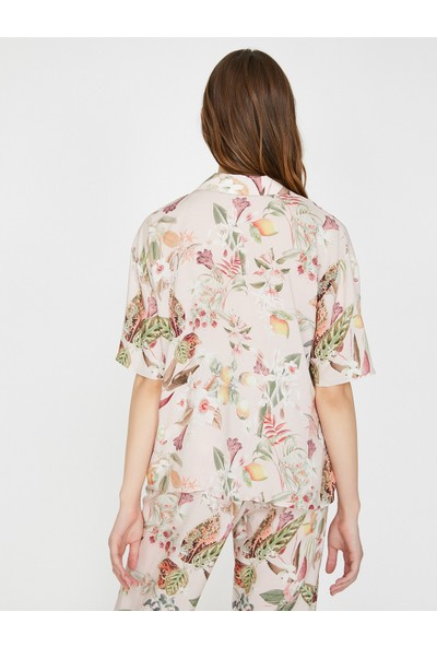 Koton Kadın Desenli Pijama Üstü