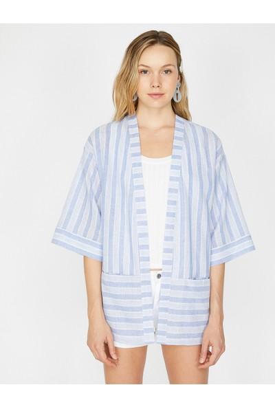 Koton Kadın Çizgili Kimono