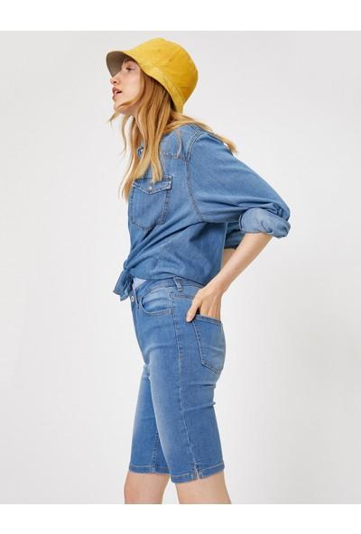 Koton Kadın Normal Bel Jean Şort