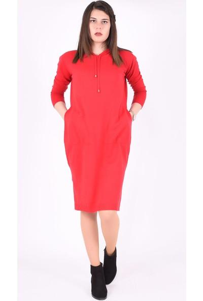 Sam Toni Kırmızı Kapşonlu Tunik & Elbise