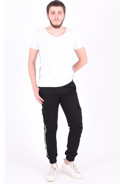 Sam Toni Kargo Cep Şeritli Pantolon Siyah32
