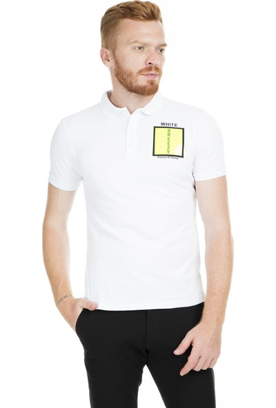 Breezy Düğmeli Polo Yaka T Shirt Erkek T Shirt 2040173