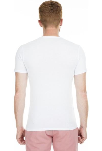 Breezy Baskılı Bisiklet Yaka T Shirt Erkek T Shirt 2060031