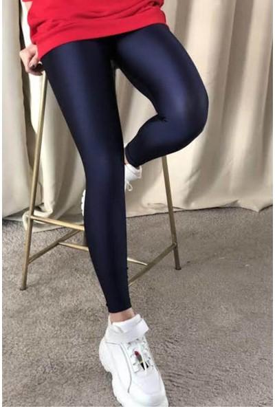 Anastasia Lacivert Parlak Spor Tayt 22145