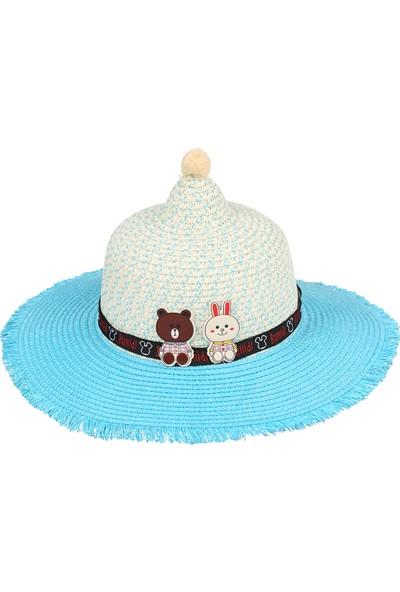 Kitti 2-6 Yaş Hasır Kız Çocuk Şapka