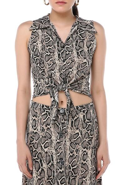 Ust Kadın Desenli Bluz