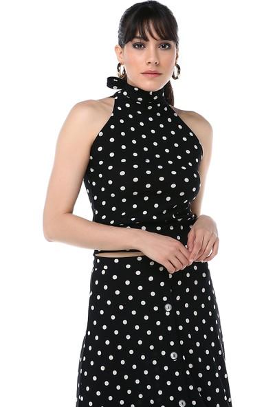 Ust Kadın Puantiyeli Bluz