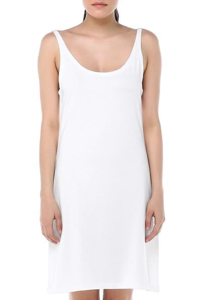Ust Kadın Beyaz Elbise