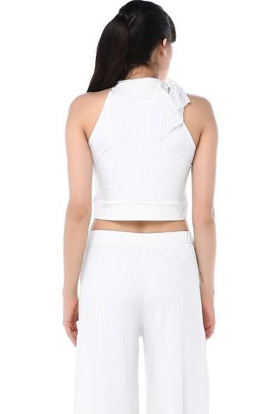 Ust Kadın Beyaz Bluz