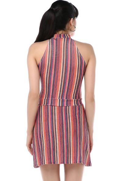Ust Kadın Renkli Bluz