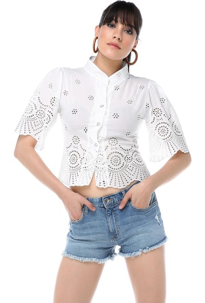 Ust Kadın Beyaz Gömlek