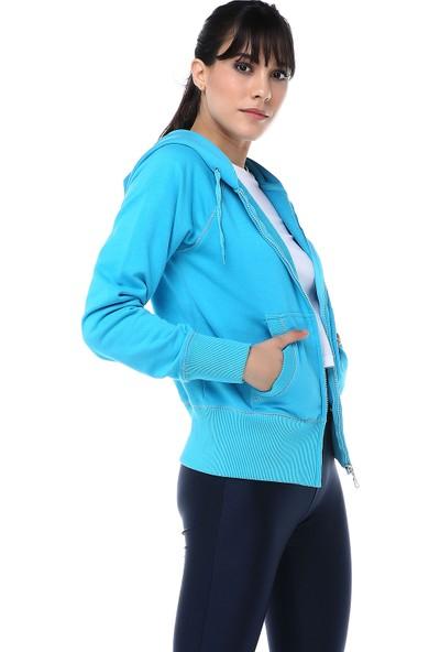 Ust Kadın Sweat Mavi