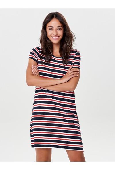 Only Kadın Kısa Çizgili Elbise 15131237
