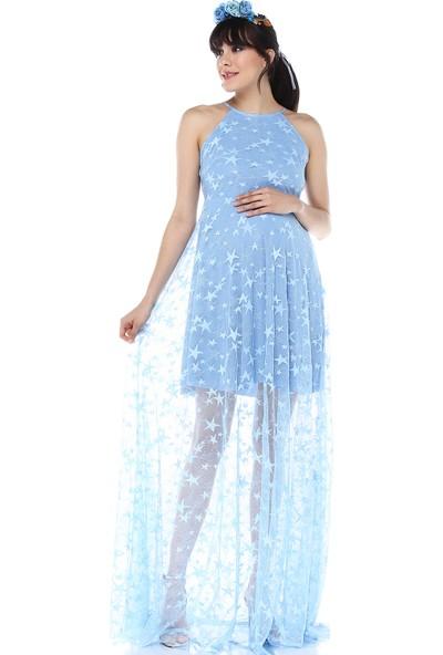 Moda Labio - Kısa Astarlı Yıldız Tül Elbise Bebemavi