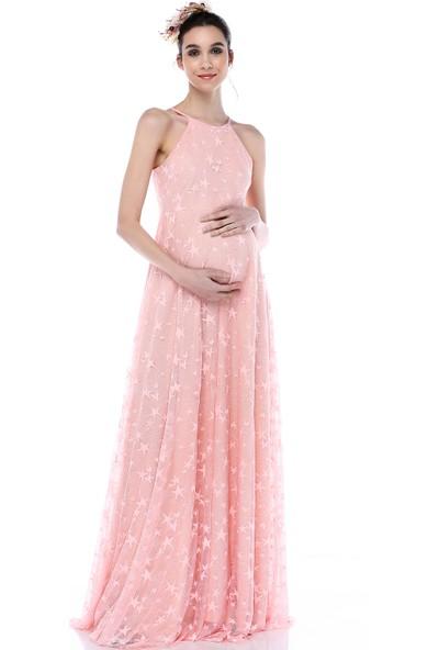 Moda Labio - Yıldız Tül Elbise Pudra