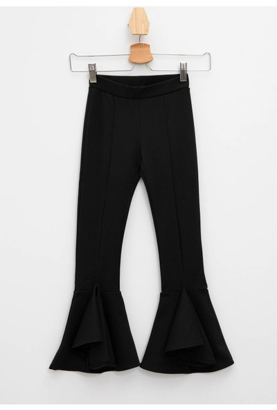 Defacto Kız Çocuk Paçası Volanlı Pantolon