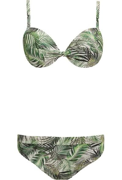 Defacto Kadın Yaprak Desenli Bikini Seti