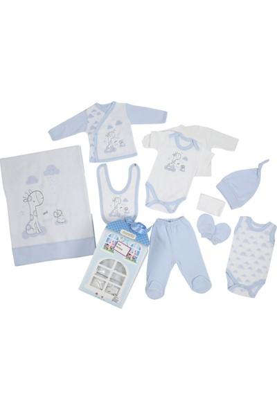 Monello Patisserie 10'lu Erkek Bebek Zürafa Hastane Çıkışı Takımı