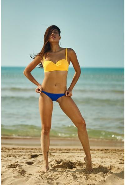 ZiButik Mavi Bağcıklı Bikini Altı