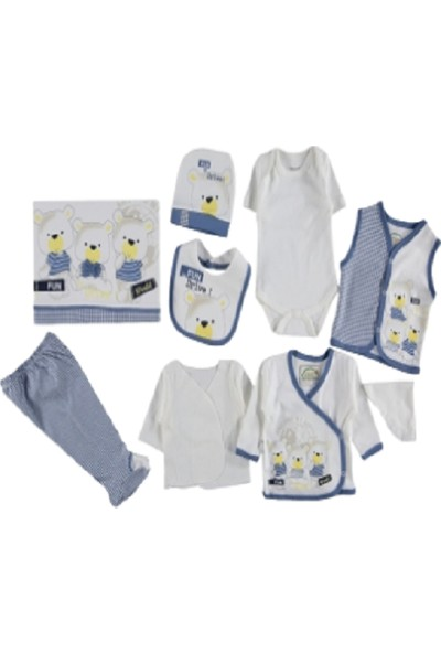 Yumurcak 10 Lu Erkek Bebek Hastane Çıkışı Zıbın Seti 207
