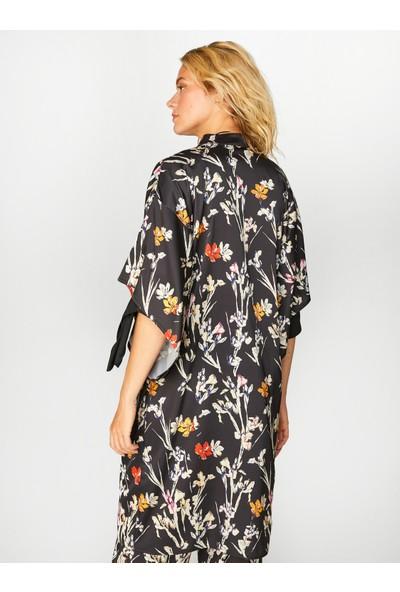 Faik Sönmez Kadın Desenli Kimono 39486
