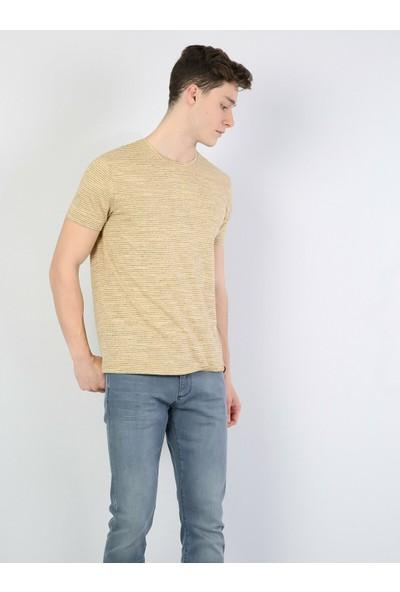 Colin's Sarı Erkek Kısa Kollu T-Shirt