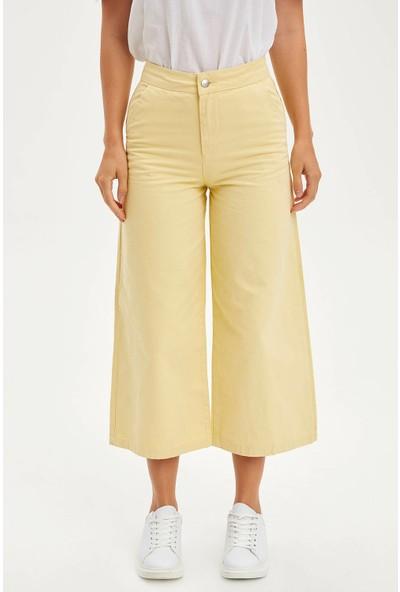 Defacto Kadın Piliseli Culotte Pantolon