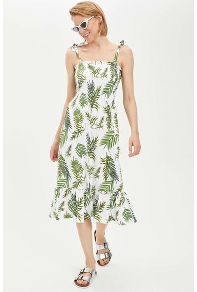 Defacto Kadın Askılı Çiçekli Elbise