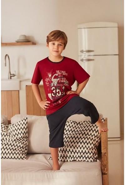 Feyza 3215 Çocuk Pijama Tk Bordo