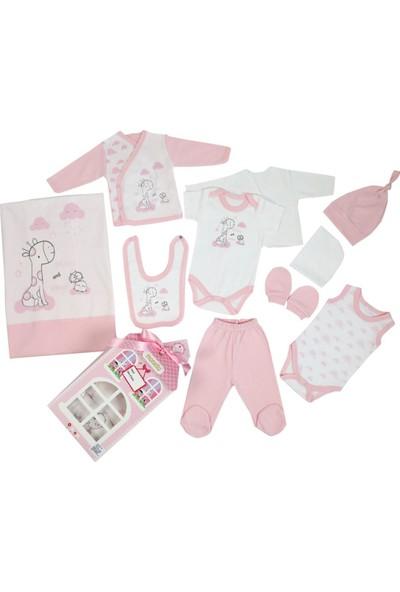 Monello Patisserie 10' Lu Kız Bebek Zürafa Baskılı Hastane Çıkışı