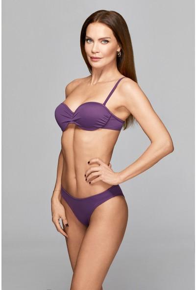 Ebru Şallı Straplez Dolgulu Bikini 36 Beden Bikini