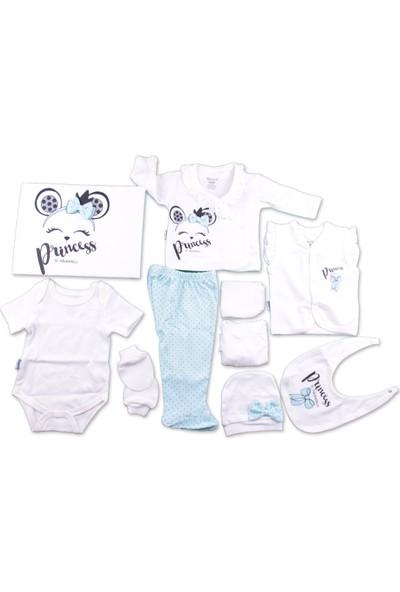 Miniworld 10'lu Zıbın Set Kız Bebek Giyim Hastane Çıkışı %100 Pamuk