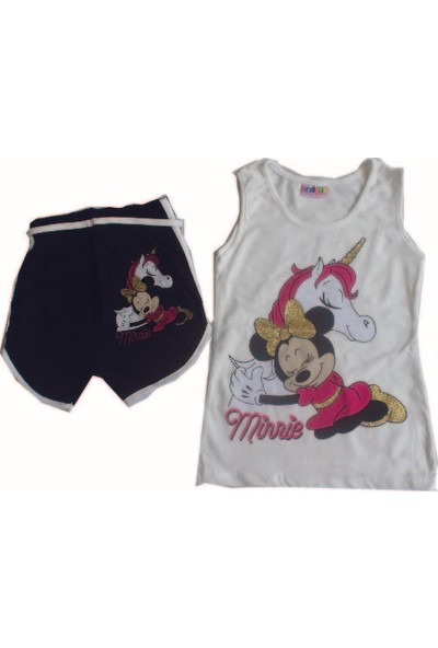 Hacalı Kids Minnie Mouse Baskılı Kız Çocuk Takım