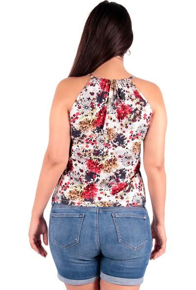Red Hot Best Çiçek Desenli Askılı Bluz