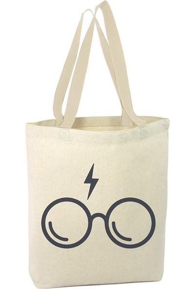 Angemiel Harry Porter Gözlüğü Alışveriş Plaj Bez Çanta