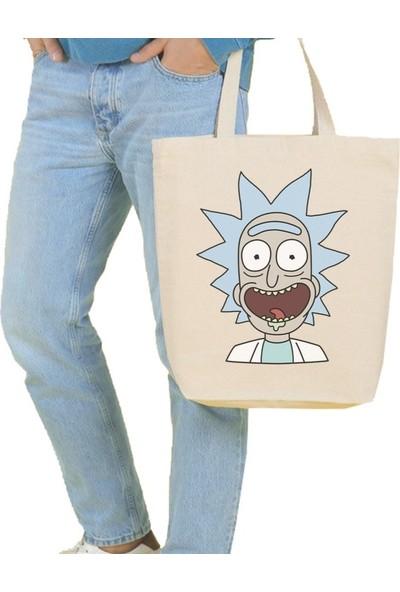 Angemiel Büyük Crazy Rick Alışveriş Plaj Bez Çanta