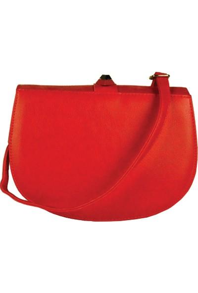 Larasima Kadın Omuz Askılı Taşlı Kırmızı Kadın Çanta (Lrs240)