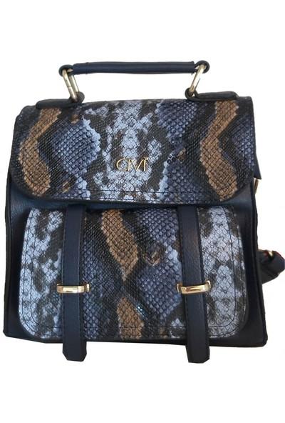 Avi Bags MYılan Desen Kadın Sırt Çantası (Lrs402)