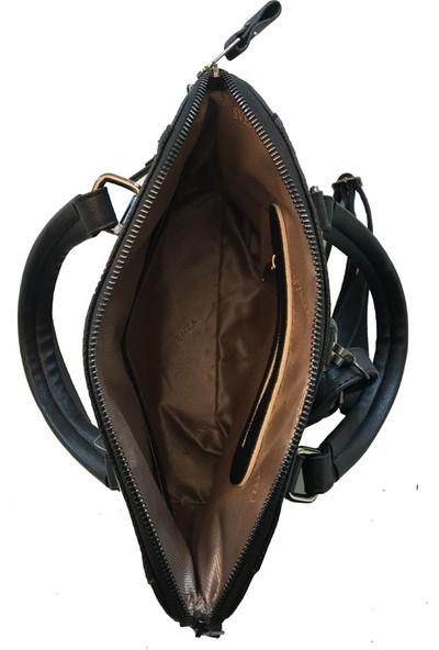 Avi Bags Siyah Kadın Sırt-El Ve Omuz Askılı Çanta (Lrs409)