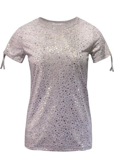 Perla Blanca Pb-Gk8001 Yıldızlı Gri T-Shirt