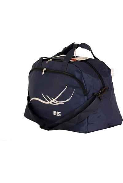Ehs 122-L Lacivert Kumaş Seyahat Çantası Spor Çanta