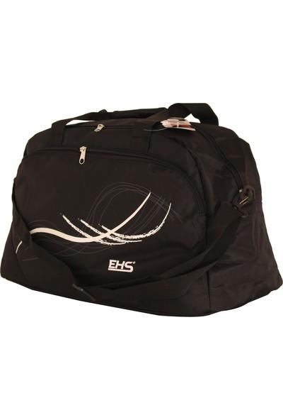 Ehs 122-S Siyah Kumaş Seyahat Çantası Spor Çanta