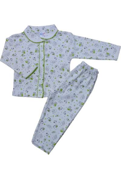 Baby World Bebe Yaka Fil Desenli Patiksiz 2 Li Pijama Takımı