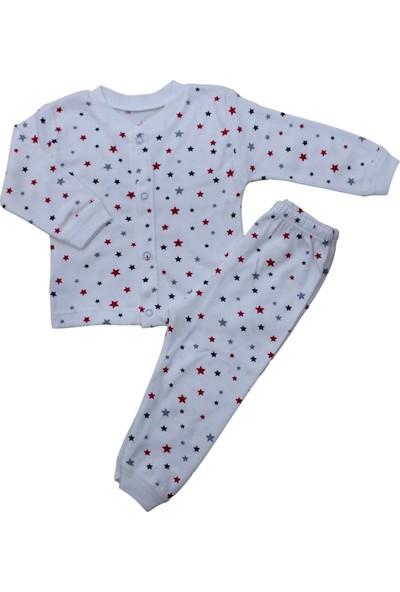 Baby World Yıldız Desenli Patiksiz 2 Li Pijama Takımı