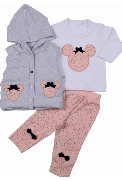 Baby World Şişme Yelekli 3 Lü Mikili Kız Takım