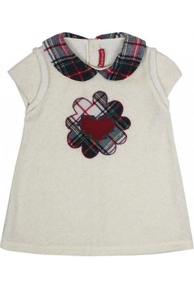 Karamela Kız Çocuk Simli Triko Elbise