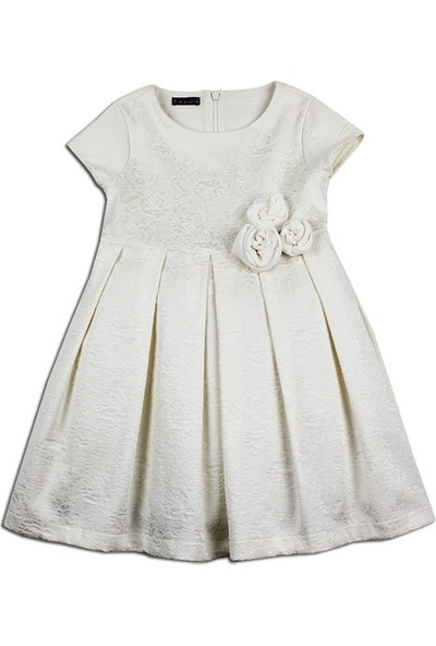 Karamela Kız Çocuk Jakar Elbise