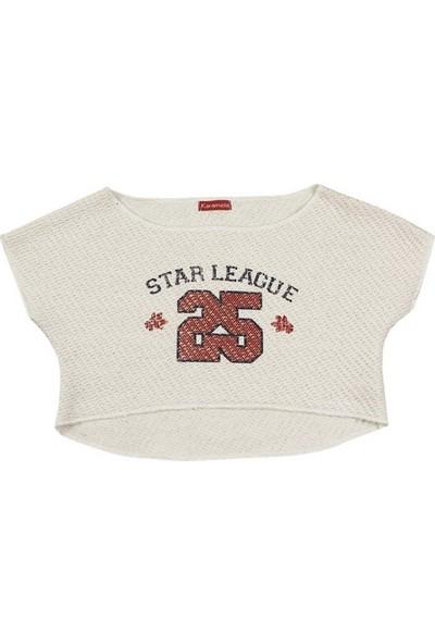 Karamela Kız Çocuk Star League Kısa Sweatshirt