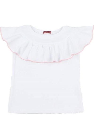 Karamela Volanlı T-Shirt